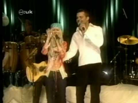 Christina Aguilera & Ricky Martin Nobody Wants To Be Lonely