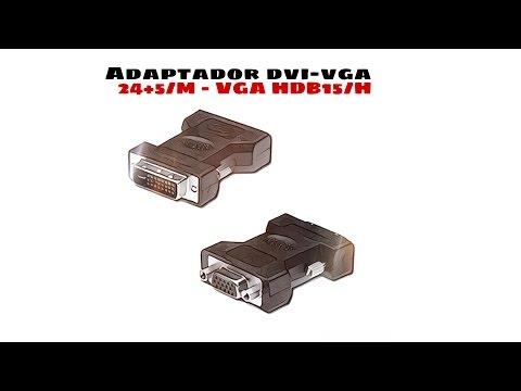 Video de Adaptador DVI 24+5/M - VGA/H  Negro