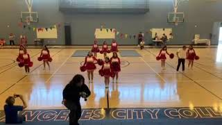 LACC BASKETBALL CHEERLEADER PERFORMANCE PART 1