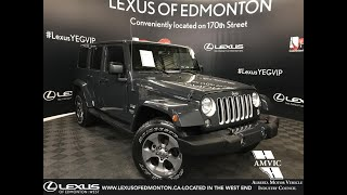 Grey 2017 Jeep Wrangler Unlimited Sahara Review Edmonton Alberta - Lexus of Edmonton