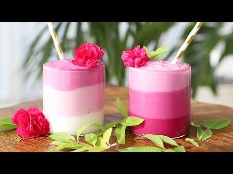 Layered Pink Smoothie Recipe | Rainbow Smoothie, Beetroot Pink Smoothie | 그라데이션 핑크 스무디 | Dalcook 달쿡