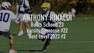 Anthony Rinaldi Sophomore Year Fall/Spring Lacrosse Highlights