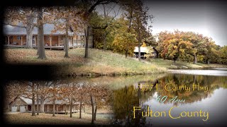 Beautiful Cabin Overlooking 5 Acre Private Lake For Sale In Fulton Co, Il  On 60 Acres