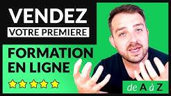 CRÉEZ & VENDEZ votre PREMIÈRE FORMATION EN LIGNE [FORMATION COMPLÈTE]