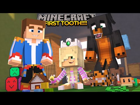Minecraft - Donut the Dog Adventures -BABY LEAH'S FIRST TOOTH!!!!