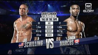 GLORY Last Man Standing - Joe Schilling vs Simon Marcus (Full Video)