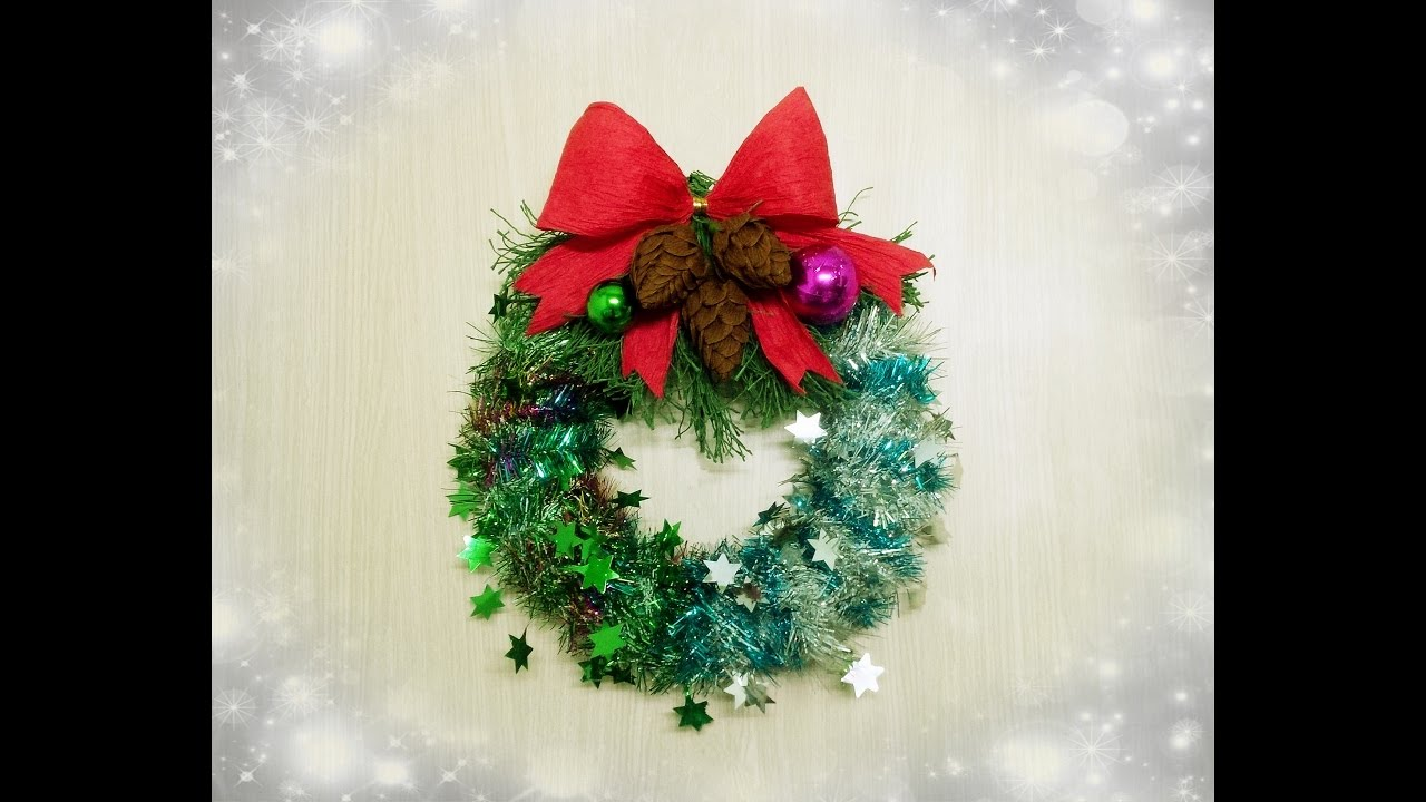 How To Make A Christmas Ornaments Wreath Craft Tutorial