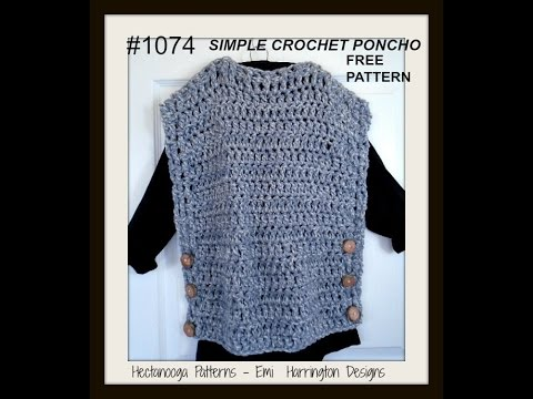 Simple Poncho Crochet Pattern Pattern 1074 Free Pattern