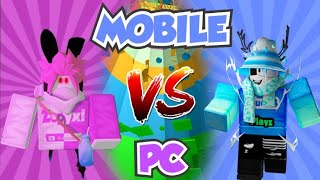 PC PRO Vs MOBILE PRO! Tower Of Hell Roblox!
