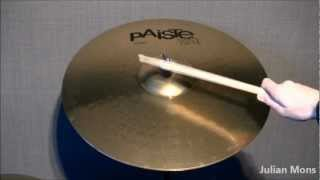 Test of Paiste 101 Brass 20'' Ride Crash