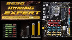 19 GPUs 500+ MH/s - Asus B250 Mining Expert Motherboard Overview