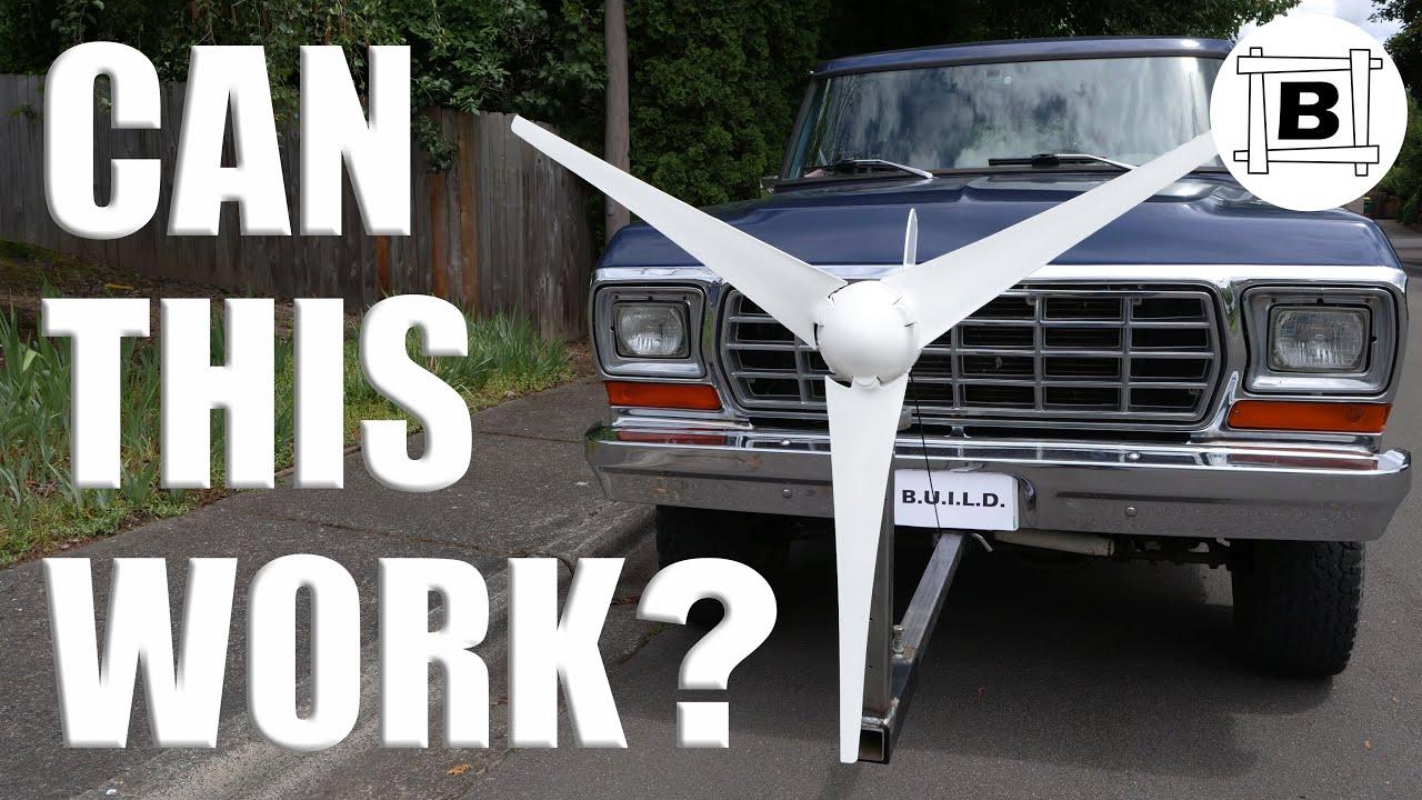 Wind Power on a CAR - Is it FREE?  Part 1