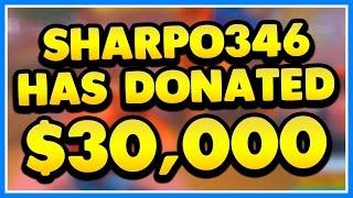 GETTING DONATED $30,000 ON STREAM REACTION!!! (Roblox Jailbreak Live Stream 4/29/17)