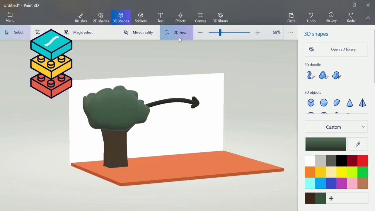 Paint 3D 1: Creating Your First 3D Structure