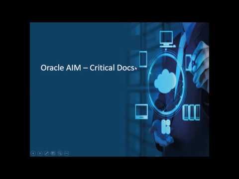 Oracle AIM Critical Docs