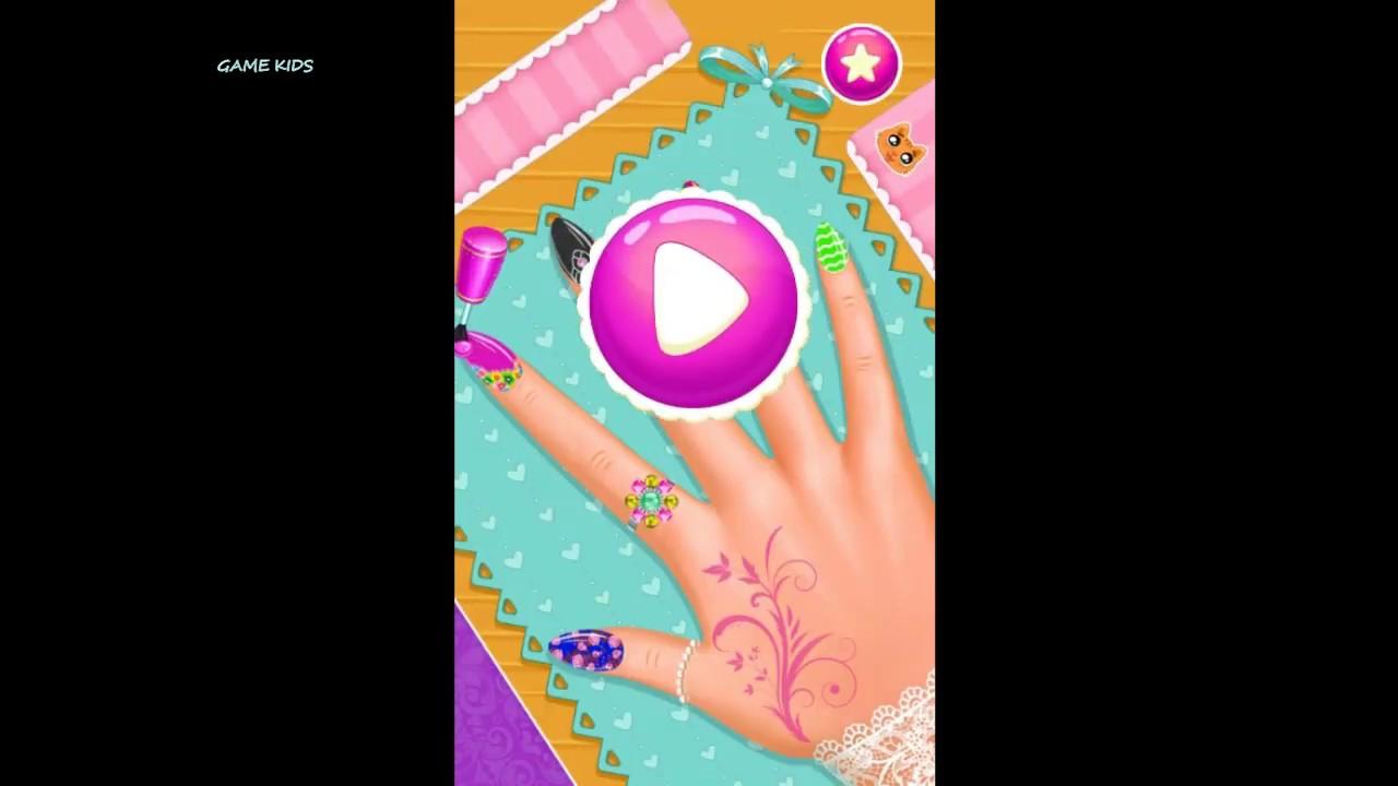 game sơn móng tay công chúa/ Nail Salon#game son mong tay*game kids6