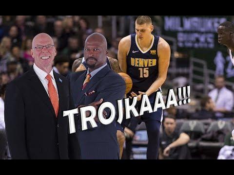 TROJKAAA!! American Commentators Speaking SERBIAN after Jokic Threes