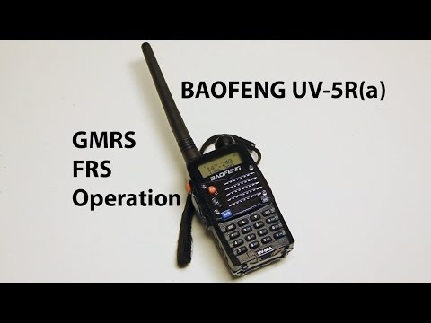 Baofeng UV-5R (and similar) - Tuning for GMRS and FRS Operation for emergencies.