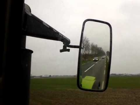 Claas ares 566 tractor huge black smoke clouds