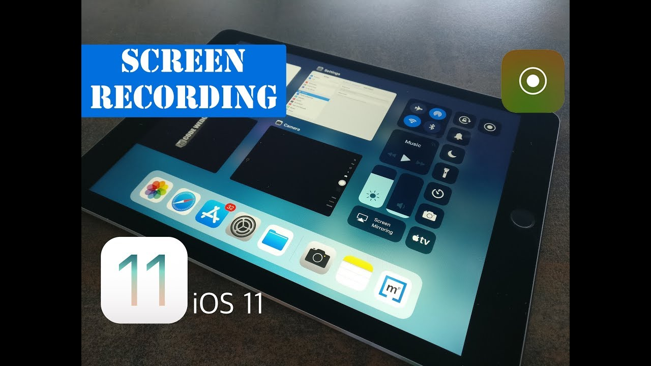 how to stop screen recording ios 11