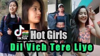 Dil Vich Tere Liye Time Kadke   Tiktok Videos   Girls Reaction   TikTok India
