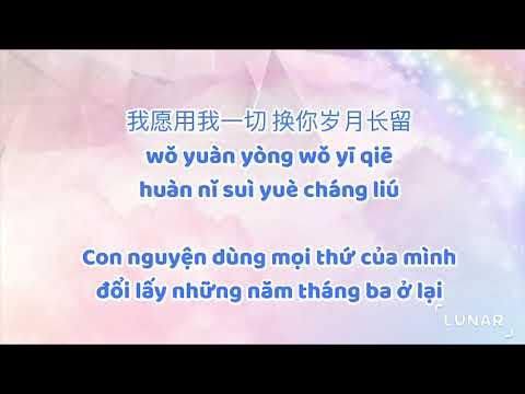 ♪ Karaoke 🎹 Fuqin  父亲  Cha  Tone Nữ👩🏻🦰 Lyrics ⋆ Pinyin ⋆ Vietsub