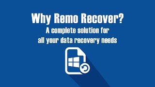 Why Remo Recover - Best Data recovery software to recover your lost data - Windows Mac