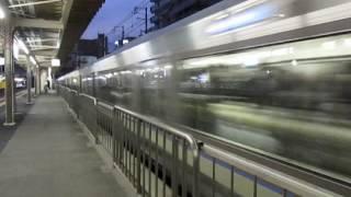 JR神戸線223系2000番台新快速摂津本山駅高速通過!1