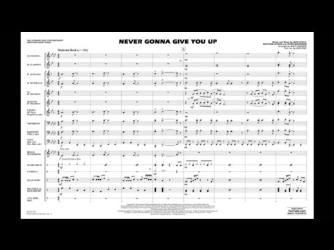 Never Gonna Give You Up arranged by Matt Conaway