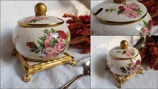 Porcelain imitation ❤🎨❤Decoupage tutorial
