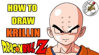 How to draw Krillin from DragonBall Z