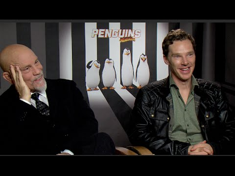 Benedict Cumberbatch & John Malkovich interview - PENGUINS OF MADAGASCAR