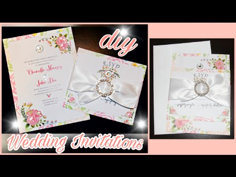 diy how to make wedding invitations elegant chic hobo floral rustic stationary cards - Make Wedding Invitations