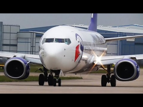 FOOTBALL CHARTERS at Manchester Airport | RWY23L & RWY23R | 24/05/2017
