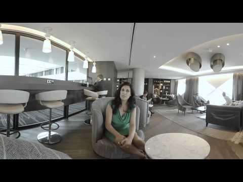 360-degree VR video - Executive Lounge - Hilton Amsterdam Airport Schiphol