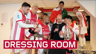 DRESSING ROOM SCENES | Ajax celebrate wining the KNVB Cup!