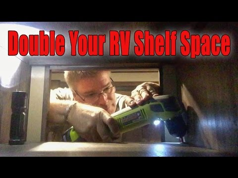 How To Double The Shelf Space For Your Rv Cabinets Youtube