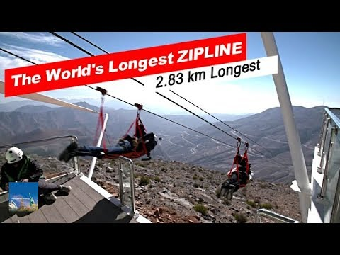 Jebel Jais Flight : The World's Longest Zip Line Ras Al Khaimah,: World Records : 2.83km Zip Line