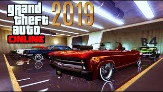 GTA ONLINE : 2019 Garage Tour pt 2 -BENNY's, Muscle Cars & Hot Rods - 30 Car Nightclub Garage