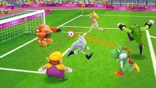 Mario and Sonic at the London 2012 Olympic Games Cartoon Football Yoshi vs Peach , Sliver