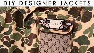 diy designer jacket gucci and louis vuitton custom tutorial