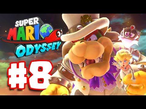 Super Mario Odyssey   Walkthrough Part 8   Bowser's Castle Boss Battle (Super Mario Odyssey Switch)