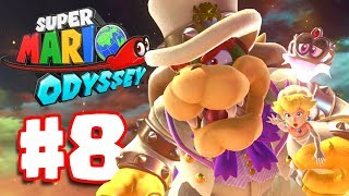 Super Mario Odyssey | Walkthrough Part 8 | Bowser's Castle Boss Battle (Super Mario Odyssey Switch)