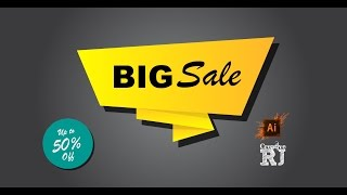 Big Sale Banner Illustrator Tutorial