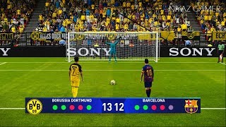 Uefa champions league - ucl pes 2020   borussia dortmund vs barcelona penalty shootout messi sancho gameplay pc subscribe please))) http://www.youtu...