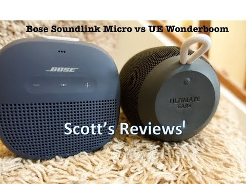 Bose Soundlink Micro vs UE Wonderboom
