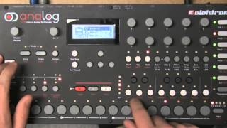 Elektron Analog Four - Creating pattern from scratch