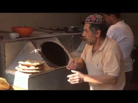 Making laffa in Jerusalem, Israel.
