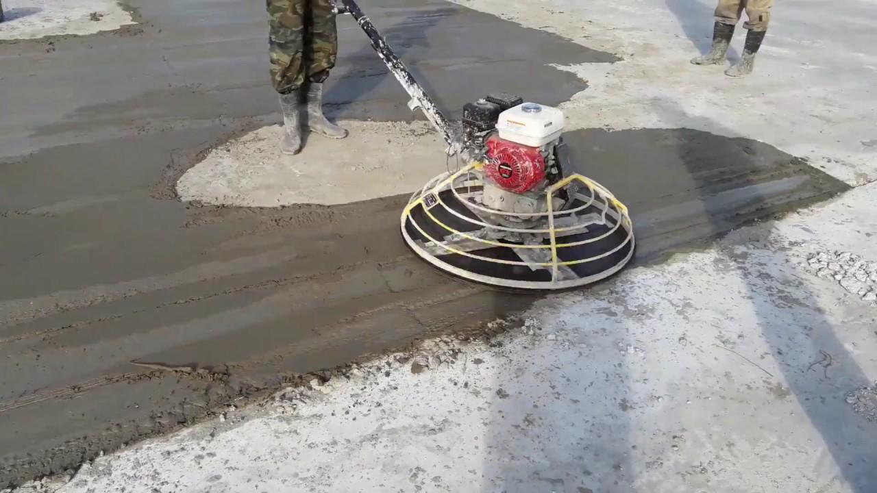 Вертолет затирка бетона шлямбур по бетону