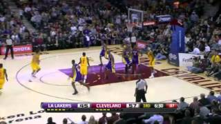 Los Angeles Lakers vs Cleveland Cavaliers 12/11/12